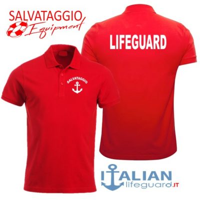 italian-lifeguard-polo-uomo-rossa-lifeguard-ancora