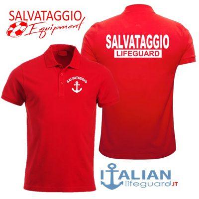 italian-lifeguard-polo-uomo-rossa-salvataggio-lifeguard-ancora