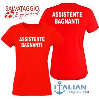 italian-lifeguard-t-shirt-donna-rossa-assistente bagnanti-fr