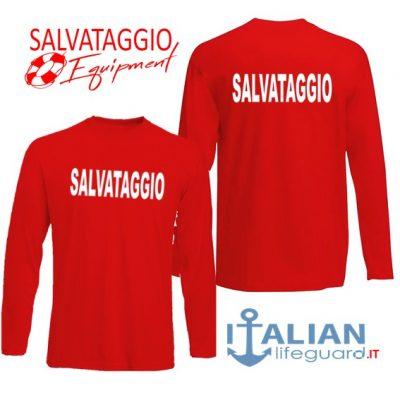 italian-lifeguard-t-shirt-m.lunga-rossa-uomo-salvataggio-fr